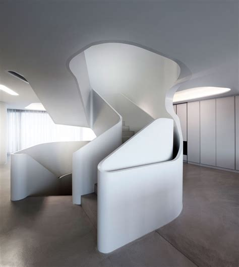 stunning modern house  curved wall housebeauty