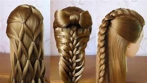 Coiffure Pour Cheveux Mi Longs : 3 coiffures faciles coiffures pour tous les jours cheveux mi long long youtube ~ Melissatoandfro.com Idées de Décoration