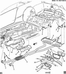 Cadillac Srx Insulator  Exhaust Muffler  Resonator