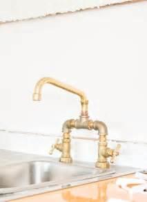diy kitchen faucet diy plumbing brass bridge faucet vintage revivals apartment therapy