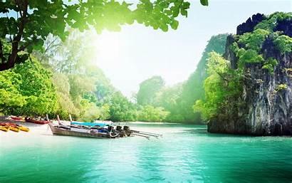 Vietnam 4k Wallpapers Wallpaperaccess Beach Cliffs Boats