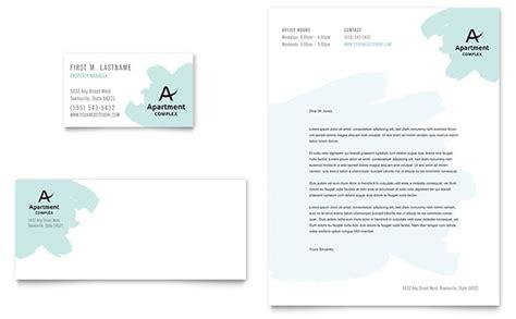 apartment business card letterhead template design