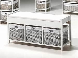 Banc Pour Salle De Bain : beau meuble rangement salle de bain leroy merlin 13 de ~ Dailycaller-alerts.com Idées de Décoration