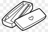 Pencil Coloring Clipart Ruler Sharpener Transparent sketch template
