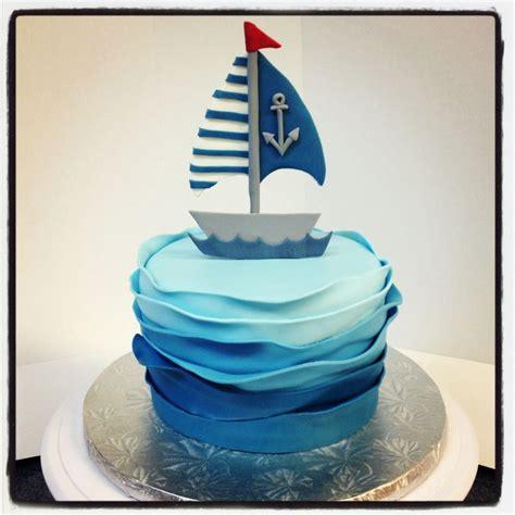 Sailing Boat Cake by Nautical Theme Baby Shower Sail Boat Cake Annacakes