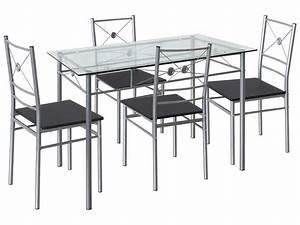 Ensemble Table Et Chaise Cuisine : ensemble table 4 chaises de cuisine saigon vente de ensemble table et chaise conforama ~ Melissatoandfro.com Idées de Décoration
