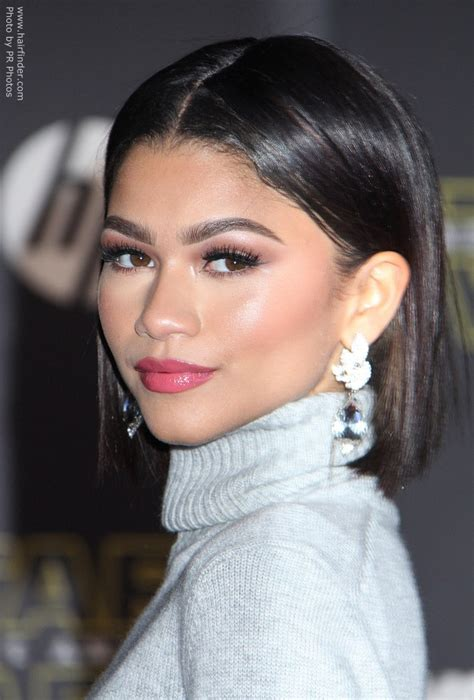 Hair Pictures by Zendaya Coleman S Bob Hairstyle And Turtleneck