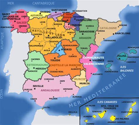 Carte D Espagne Avec Villes by Besoin D Une Carte De L Espagne En Voici 20 Espagne