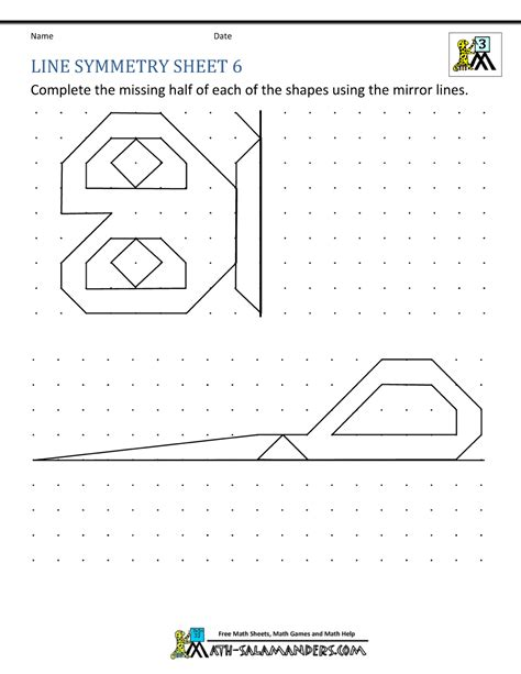 maths rotation worksheets year 6 symmetry