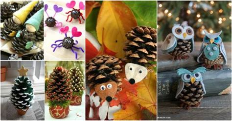 creative diy pinecone craft projects  kids