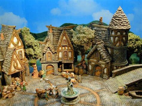 medieval town fantasy town environment concept art