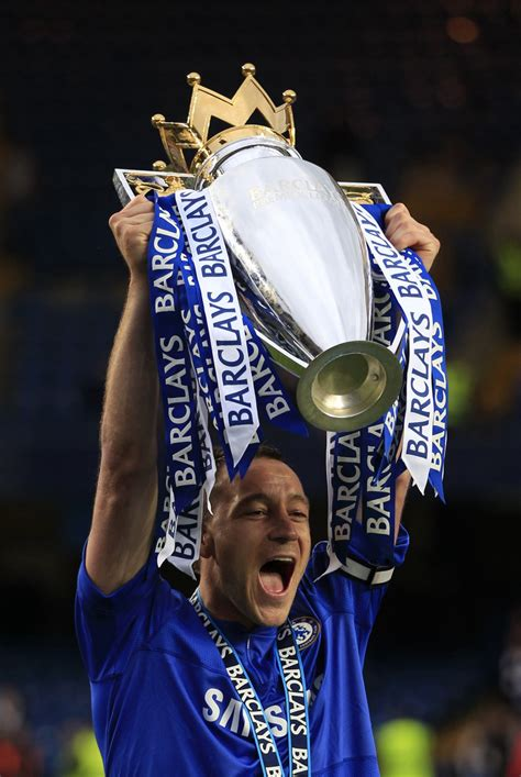 suspended terry  lift champions league trophy