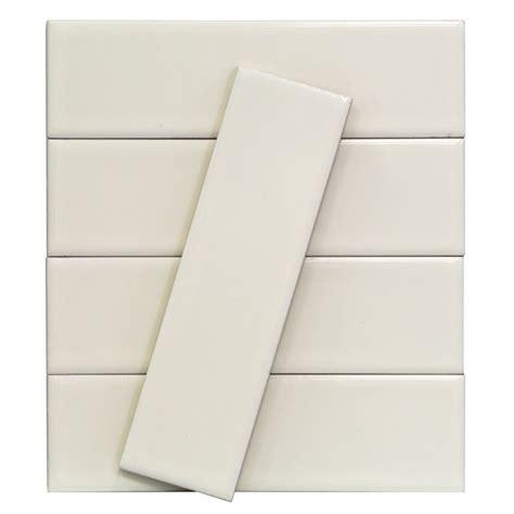 byzantine bianco ceramic subway tile