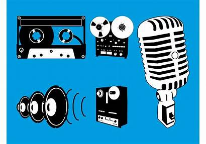 Microphone Vector Equipment Graphics Drawing Audio System
