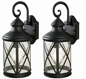 patriot lightingr sonoma 1 light 16quot black twin pack With outdoor lighting fixtures at menards