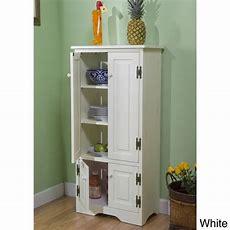 White Tall Cabinet Storage Kitchen Pantry Organizer