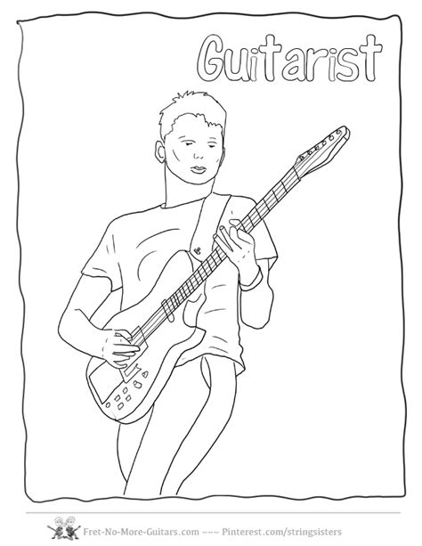 electric guitar coloring pages coloring home