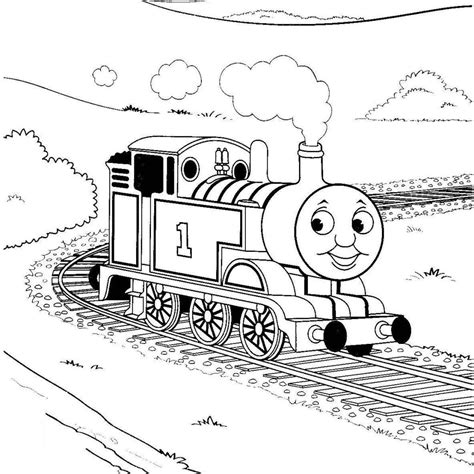thomas  tank engine coloring pages  printable