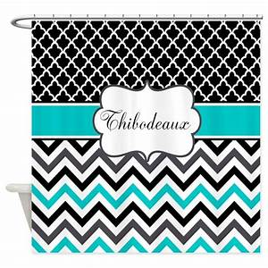 Black teal quatrefoil chevron personalized shower by for Kitchen colors with white cabinets with monogram stickers for cups