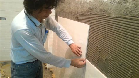 Tile Installation On Brick Wall Process, Part 1  Youtube