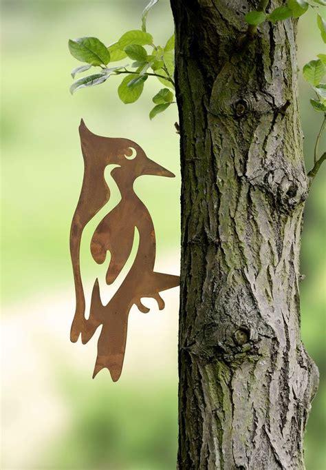 Gartendeko Rost Und Holz by Gartendeko Rost Specht Vogel Rost Gartenstecker Edelrost