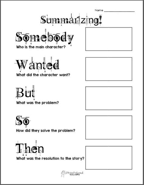 summarizing graphic organizer squarehead teachers
