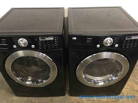 black washer and dryer large images for front load stackable washer dryer set lg