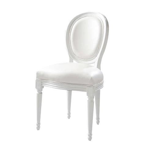 chaise médaillon maison du monde chaise médaillon en textile enduit blanc louis maisons du monde