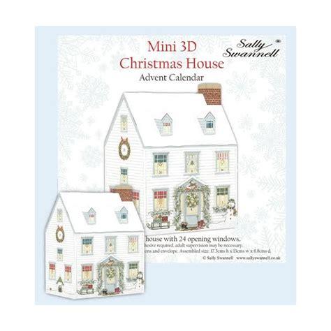 mini advent calendar house aspen brown