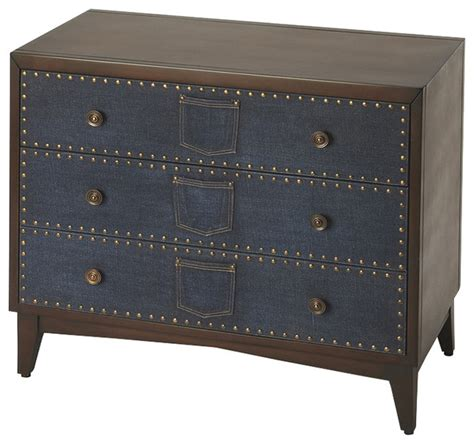 accent console cabinet lindor denim console chest eclectic accent chests and