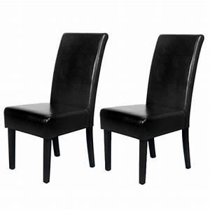 Lot De Chaise Pas Cher : chaise classique noir pas cher en promotion ~ Teatrodelosmanantiales.com Idées de Décoration
