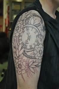 Pocket Watch Tattoo Sleeve