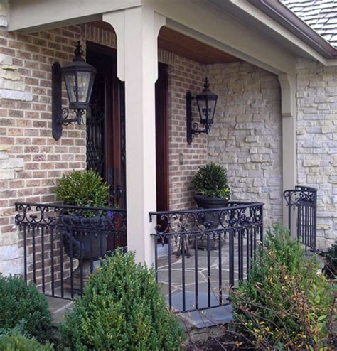 cost  wrought iron stair railing exterior porch prices