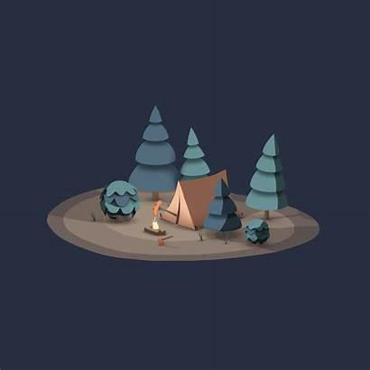 Outdoors Camping Motion Animation 4d Bear Dribbble