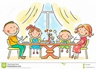 Family Having Meal Together Stock Vector - Image: 44759389