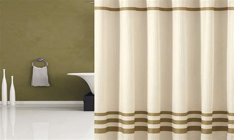 Piece Fabric Shower-curtain Set With Mildew-resistant