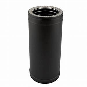 Tuyau Inox 200 : tubage chemin e double paroi noir anthracite diam 150 200 ~ Edinachiropracticcenter.com Idées de Décoration