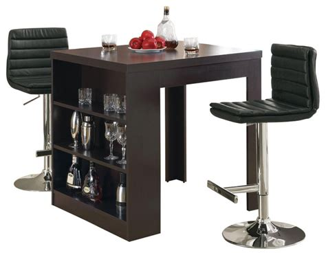 3 pc counter set w table contemporary indoor pub and