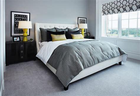 chambre grise et idées déco pour une chambre jaune et grise