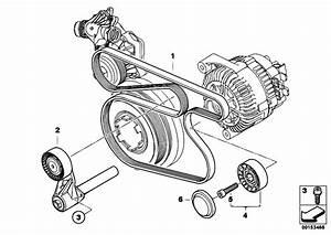 Original Parts For E71 X6 30dx M57n2 Sac    Engine   Belt Drive Water Pump Alternator