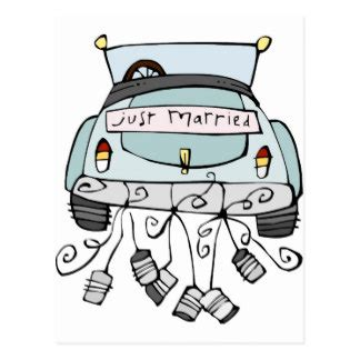 post wedding brunch invitation just married car gifts on zazzle