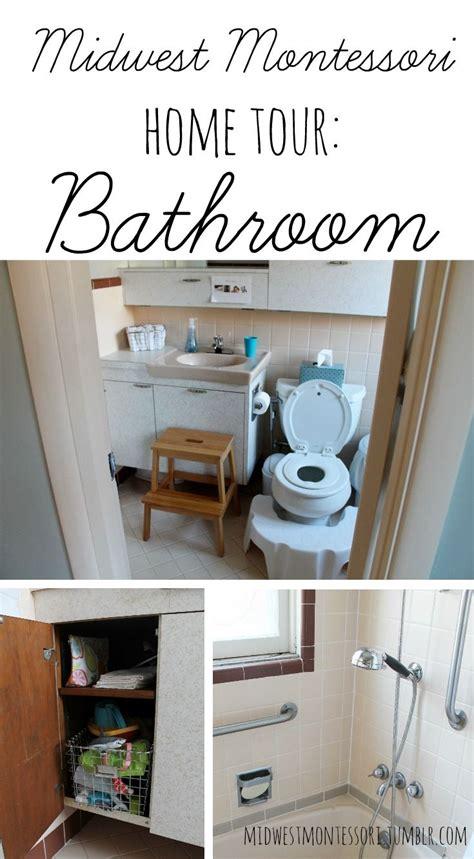 montessori home tour bathroom montessori home 526 | d677b5e7dbb8300aa128e95c95c3fbfc