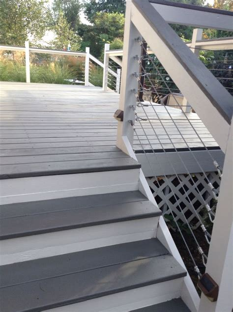 deck makeover with sherwin williams flagstone in solid
