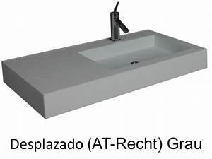 Waschbecken 30 Cm Durchmesser : waschbecken largeur 160 waschbecken breite 160 cm kunstharz desplazado grau ~ Sanjose-hotels-ca.com Haus und Dekorationen