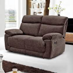 Brown Fabric Recliner Sectional Sofa
