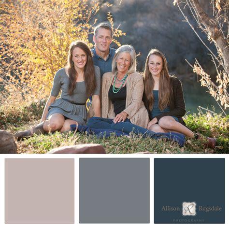 family portrait color palettes durango wedding