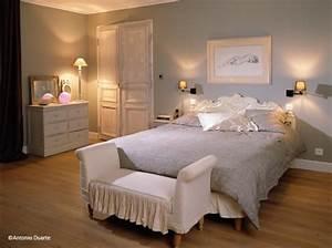 Deco Avec Du Gris : d co chambre adulte ton gris ~ Zukunftsfamilie.com Idées de Décoration