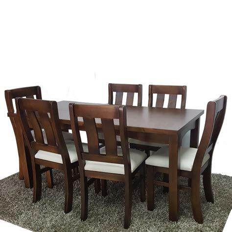 juego de comedor mesa   sillas divino en madera maciza
