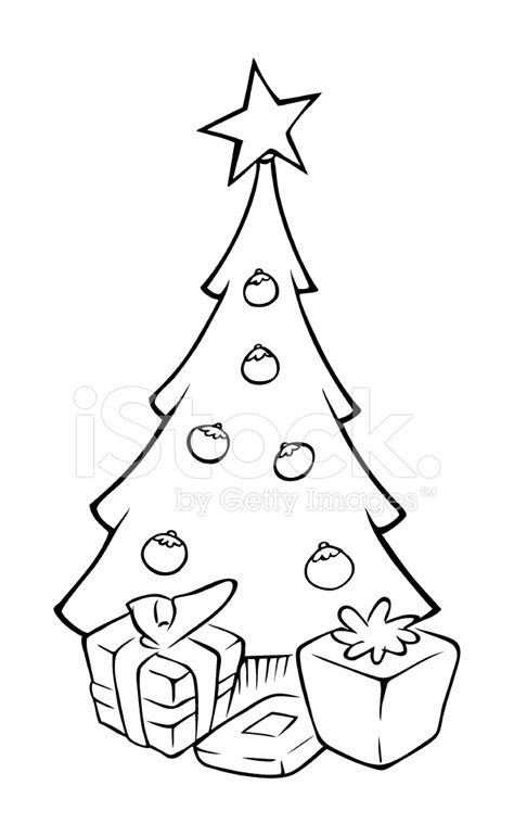 Coloring X Tree by Tree Outline Stock Vector Freeimages