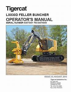 Download Tigercat Feller Buncher Lx830d Operator U2019s Manual